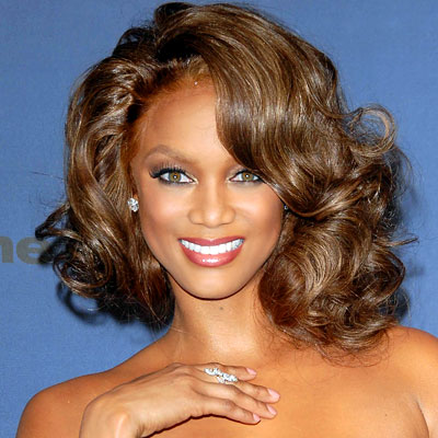 Tyra Banks Black Hair.color.Golden