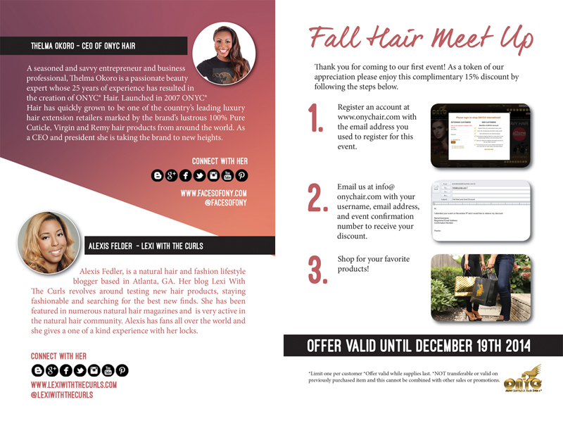 meet and greet discount steps from onyc hair