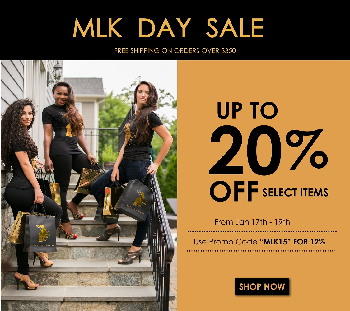 ONYC Hair MLK Sale 2015. ONYC Beauties with shopping bag