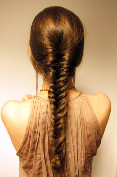 The fishtail braid takes skill and time to do