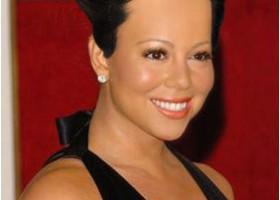 Mariah Carey, Short Look, african american short hair style